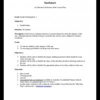Printable Kindergarten & Grade 1 Health: SunSmart - Printable Lesson Plans - Free Printable Worksheets