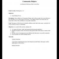 Kindergarten &amp;amp;amp; Grade 1 Social Studies: Community Helpers