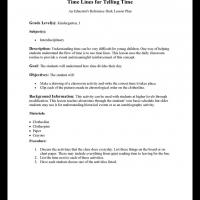 Printable Kindergarten & Grade 1Interdisciplinary: Time Lines for Telling Time - Printable Lesson Plans - Free Printable Worksheets