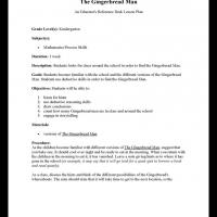 ... lesson plan about the gingerbread man the gingerbread man delights