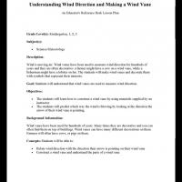 Kindergarten to Grade 3 Science: Understanding Wind Direction
