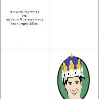 Printable King Dad - Printable Fathers Day Cards - Free Printable Cards