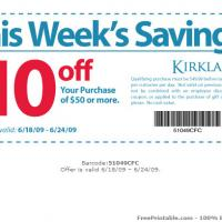Printable Kirkland $10 Off Purchase Of $50 Or More - Printable Discount Coupons - Free Printable Coupons