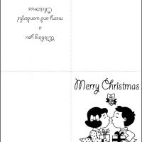 Printable Kiss Under the Mistletoe - Printable Christmas Cards - Free Printable Cards