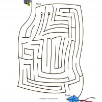 Printable Kite Maze - Printable Mazes - Free Printable Games