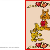 Printable Kitten And Puupy Making Valentine Cards - Printable Valentines - Free Printable Cards
