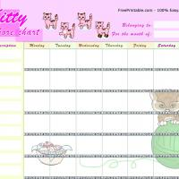 Printable Kitty Chore Chart - Printable Chore Charts - Free Printable Activities