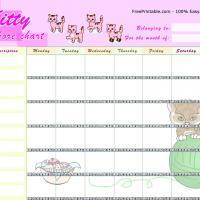 Kitty Chore Chart