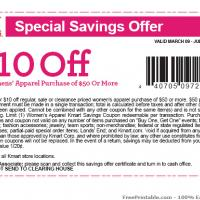 Printable KMart $10 Off Women's Apparel Purchase Of $50 Or More - Printable Discount Coupons - Free Printable Coupons