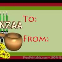 Printable Kwanzaa Items - Printable Gift Cards - Free Printable Cards
