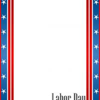 Labor Day Stars and Stripes Stationery