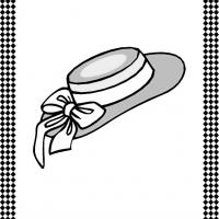 Ladies' Hat Flash Card