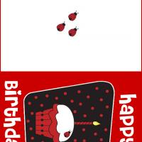Ladybug Birthday Card