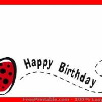 Printable Ladybug Birthday - Printable Gift Cards - Free Printable Cards