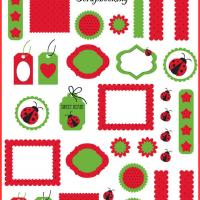 Ladybug Scrapbook Materials