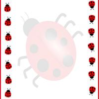 Printable Ladybugs Border Stationery - Printable Stationary - Free Printable Activities