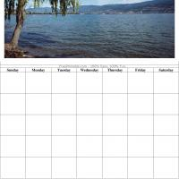 Printable Lake View Blank Calendar - Printable Blank Calendars - Free Printable Calendars