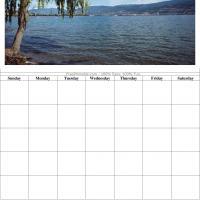 Lake View Blank Calendar