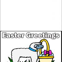 Printable Lamb With Easter Egg - Printable Easter Cards - Free Printable Cards