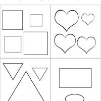 Printable Large or Small Shapes Comparison - Printable Preschool Worksheets - Free Printable Worksheets