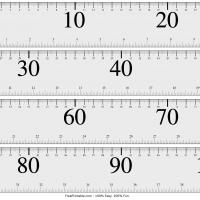 Large-Print Meter Stick with 10cm Markers
