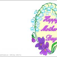 Printable Lavender Flowers - Printable Mothers Day Cards - Free Printable Cards