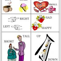 Printable Learning Opposites - Printable Preschool Worksheets - Free Printable Worksheets
