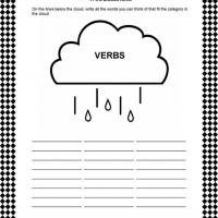 Printable Learning Verbs - Printable Classroom Lessons - Free Printable Lessons