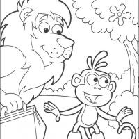 Printable Leon and Boots - Printable Dora The Explorer - Free Printable Coloring Pages