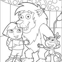 Printable Leon in Circus - Printable Dora The Explorer - Free Printable Coloring Pages