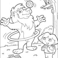 Printable Leon Performing - Printable Dora The Explorer - Free Printable Coloring Pages