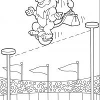 Printable Leon's Balancing Act - Printable Dora The Explorer - Free Printable Coloring Pages