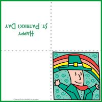 Printable Leprechaun Rainbow Card - Printable Greeting Cards - Free Printable Cards