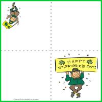 Printable Leprechaun St. Patrick's Day Card - Printable Greeting Cards - Free Printable Cards