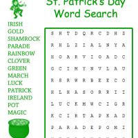 Leprechaun's Gold Word Search