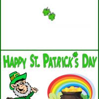 Printable Leprechaun's Pot of Gold - Printable Greeting Cards - Free Printable Cards