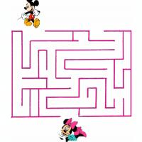 Printable Let Mickey Find Minnie Maze - Printable Mazes - Free Printable Games