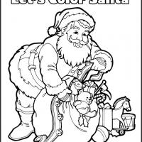 Printable Let's Color Santa - Printable Coloring Sheets - Free Printable Coloring Pages