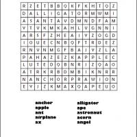 Printable Letter A Word Search - Printable Word Search - Free Printable Games