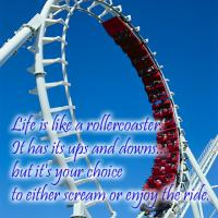 Printable Life is a Rollercoaster Quote - Printable Motivational Quotes - Free Printable Quotes