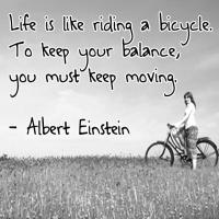 Printable Life is Like Riding a Bicycle Quote - Printable Inspirational Quotes - Free Printable Quotes