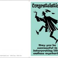 Printable Life's Mysteries - Printable Graduation Cards - Free Printable Cards
