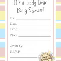 Printable Light Blue and Pink Bordered Baby Invitation - Baby Shower and Christening Invitations Cards - Free Printable Invitations