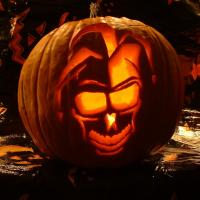 Lighted Halloween Pumpkin