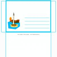 Printable Lighthouse Envelope - Printable Card Maker - Free Printable Cards
