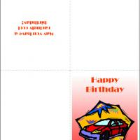 Printable Lightning McQueen Inspired Car - Printable Birthday Cards - Free Printable Cards