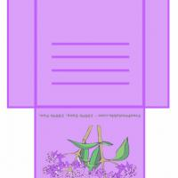 Printable Lilac Colored Teabag Envelope - Printable Card Maker - Free Printable Cards