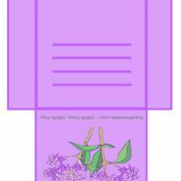 Lilac Colored Teabag Envelope
