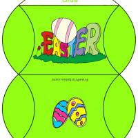 Printable Lime Green Easter Egg Box - Printable Party Supplies - Misc Printables