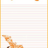 Lined Halloween Stationery